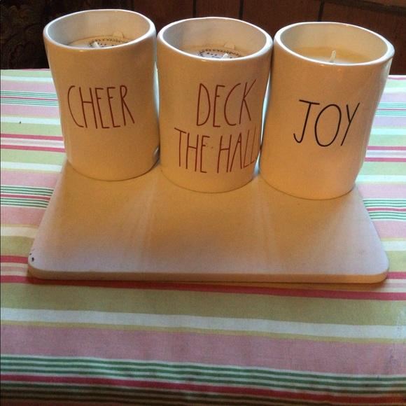 Rae Dunn holiday candles